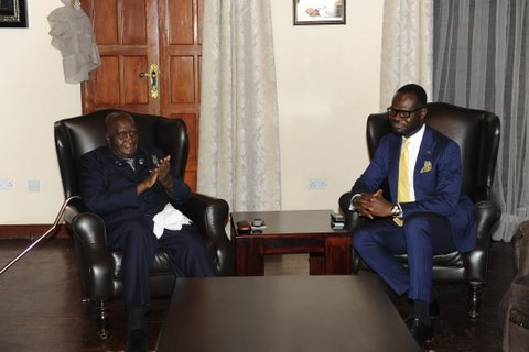 Linus Idahosa In A Meeting With Former Zambian President In Lusaka 1