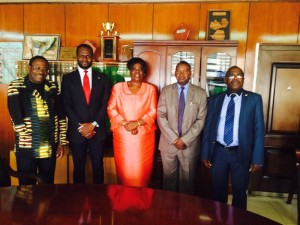 Linus Idahosa In A Meeting With Former Zambian President In Lusaka